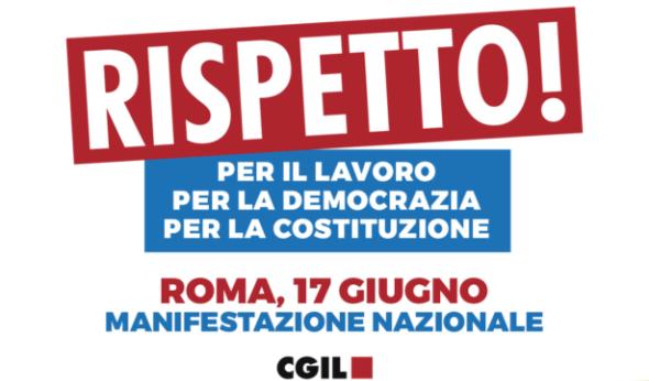 RISPETTO!  IL 17/6 MANIFESTAZIONE NAZIONALE A ROMA