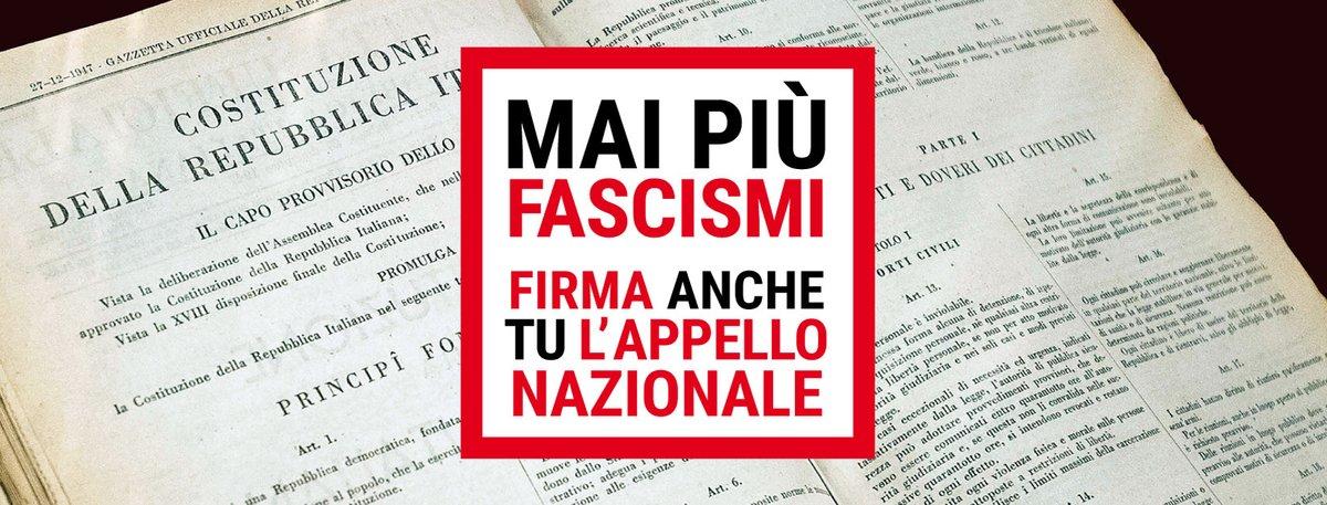 FIRMA ANCHE TU: #MaiPiuFascismi
